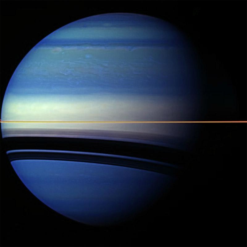 Инфракрасное изображении Сатурна