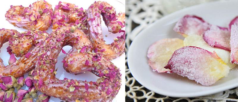 Десерты из роз