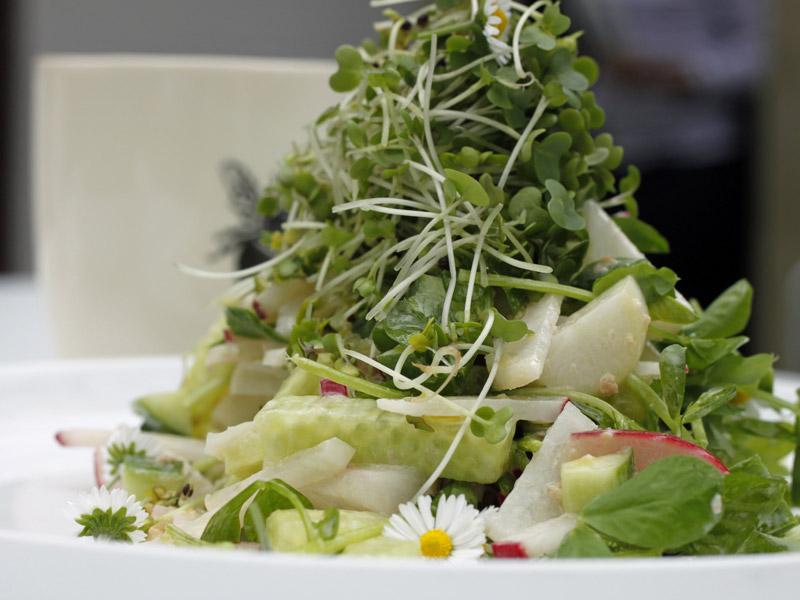 Салат с маргаритками