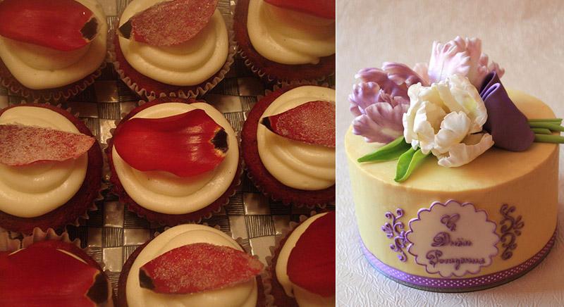 Десерты с тюльпанами