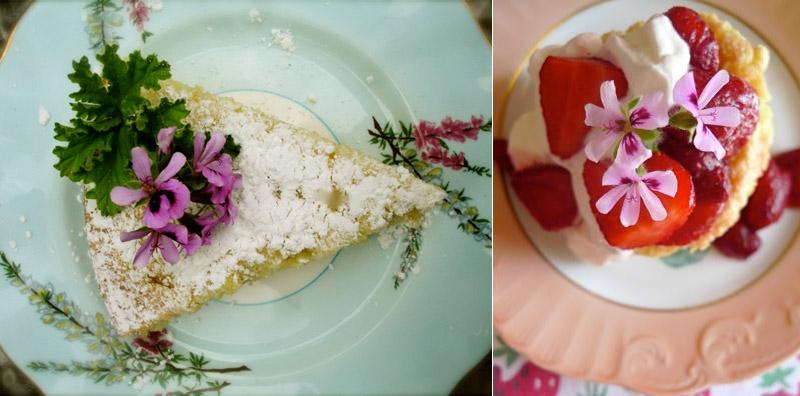 Десерты с геранью